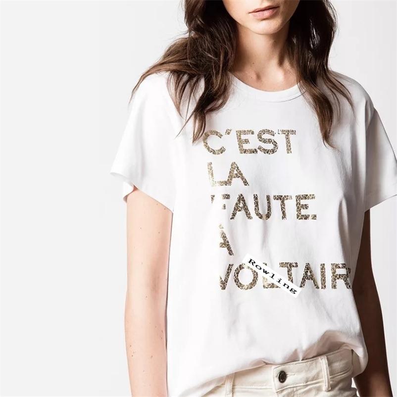 Lowling carta gráfica neutra tee mulheres verão manga curta boho camiseta casual vintage hipster roupas criatividade top 210320