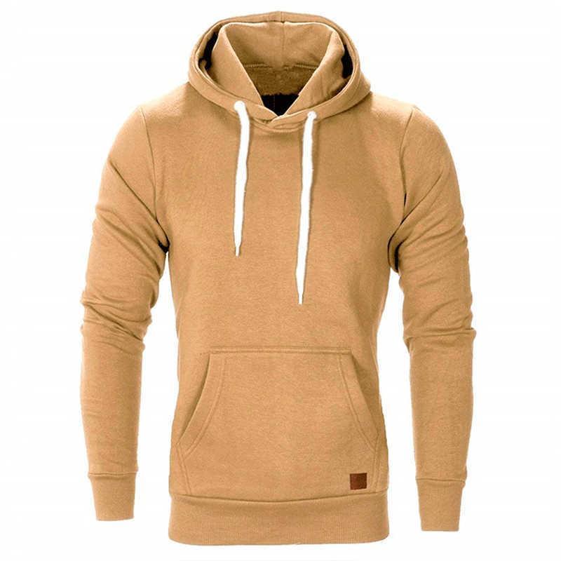 Homens moletom cores sólidas luva longa outono primavera casual hoodies top boy blouse tracksuits moletom moletom 210927