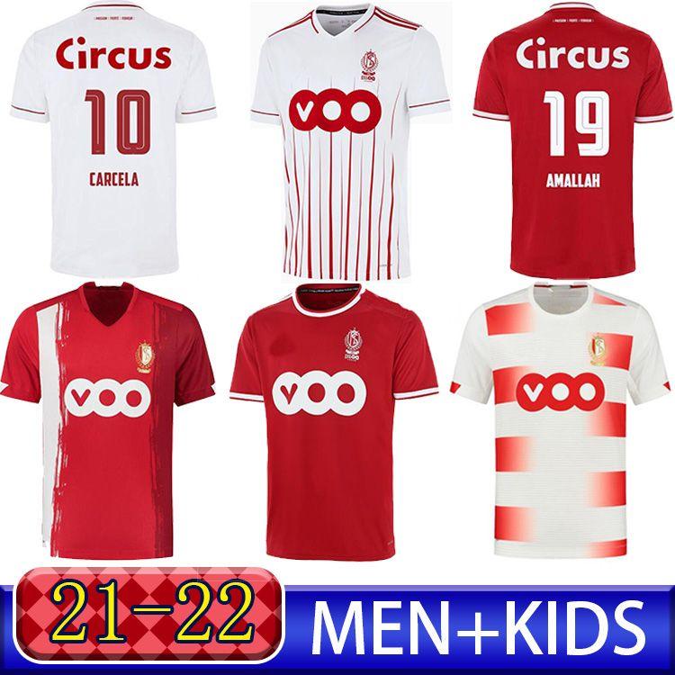 قياسي Liège Raskin Soccer Jersey 2021 22 R. Standard Liege 100 سنوات Laifis Vanheusden Carcela Mailleots De Foot Amallah Lestienne Football Commet