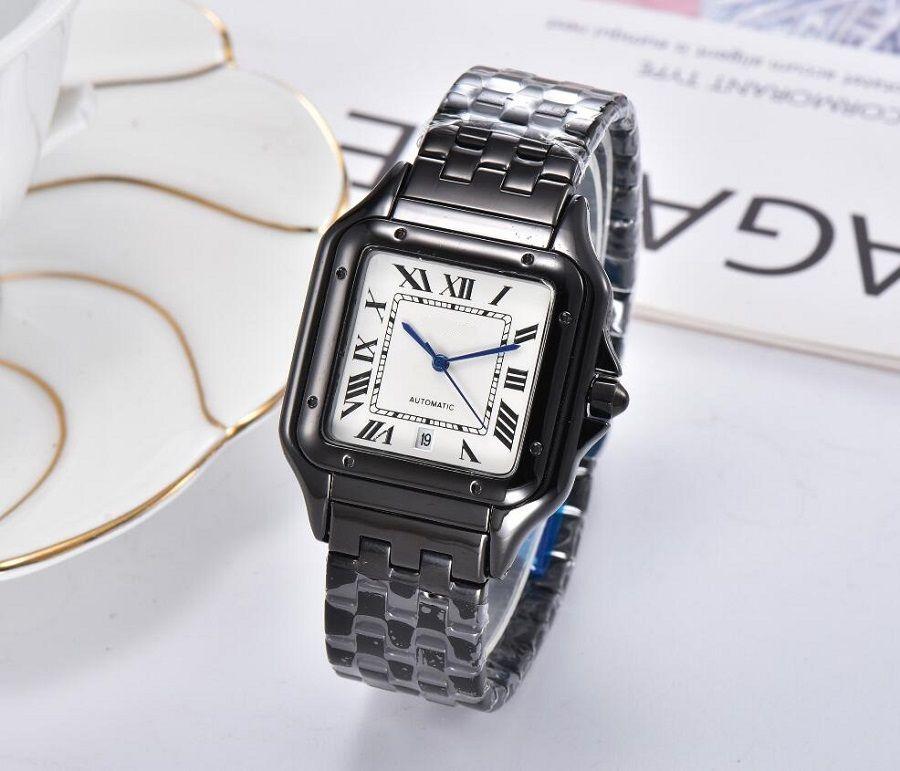 Orologio da polso quarzo quadrato Designer per donna Girl style in metallo in acciaio orologi