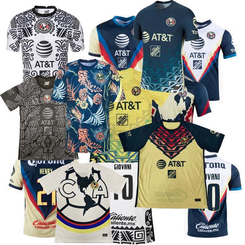 Liga MX Club America 2021 2022 футбол для футбола R.martínez Giovani Home Alects 3-й учебный жилет 20 22 22 футбольные мужчины и женщины рубашки S-3XL