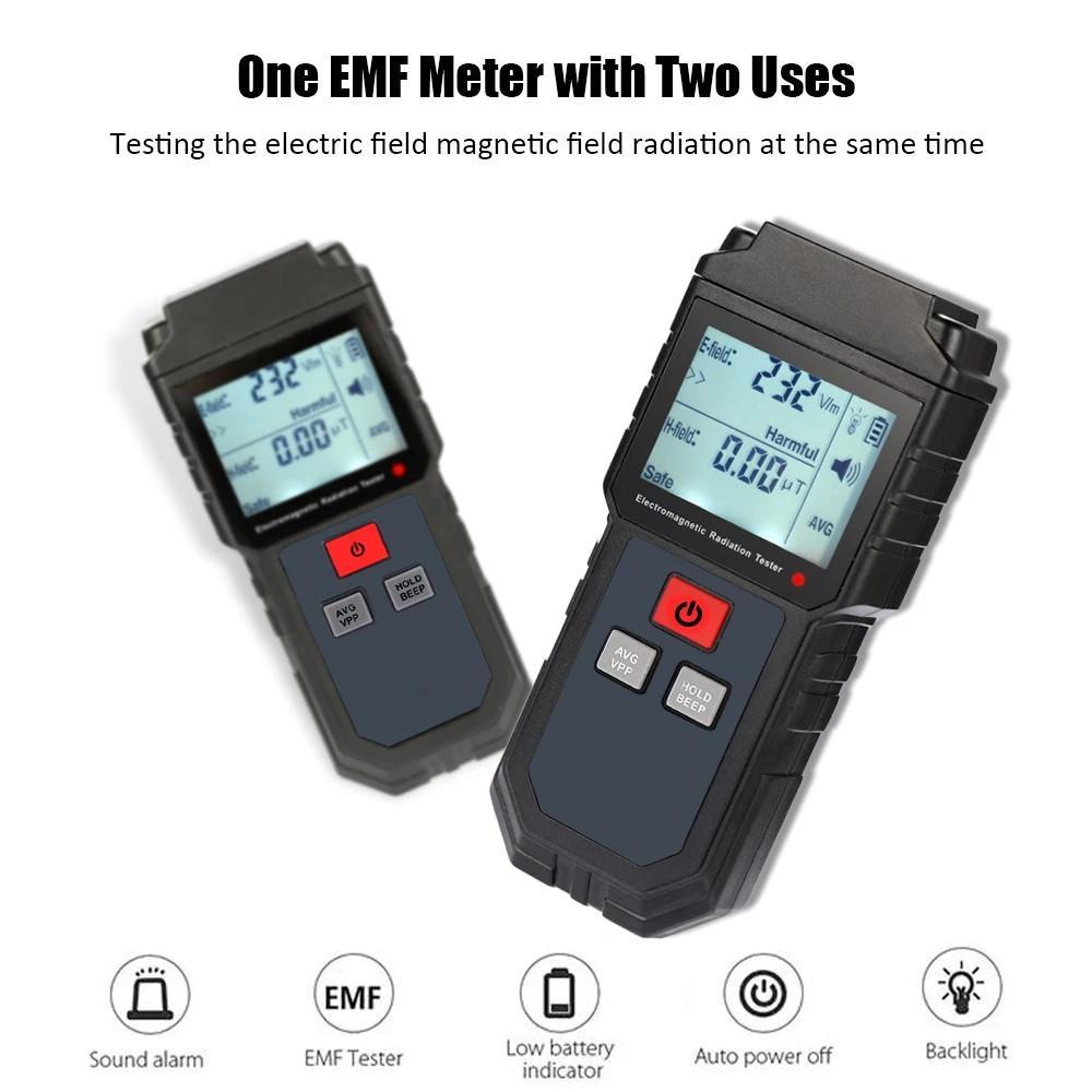 CN 핸드 헬드 디지털 LCD EMF 미터 전자기 방사선 시험기 전계 자기 용지선 검출기