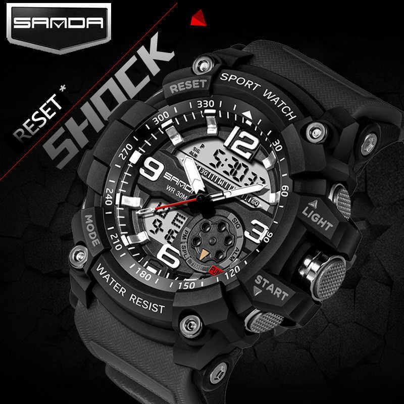 Erkek Spor Saatler G Stil Askeri Su Geçirmez Saatı Şok Analog Kuvars Dijital İzle Erkekler Relogio Masculino Reloj LY191226