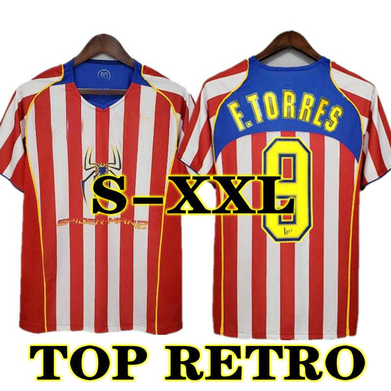# 9 F.Torres Retro 2004 2005 Atletico Madrid Soccer Jerseys 04 05 Gabi Home Vintage Football Hemd Klassische Männer Uniform Größe S-XXL