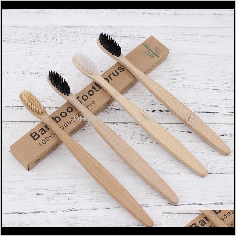 Escova de dentes de madeira Proteção Ambiental Natural Bambu Toothbrush Cuidado Oral Cerda Suave para Casa ou Hotel com Baixa Envio Sor8z RMJQM