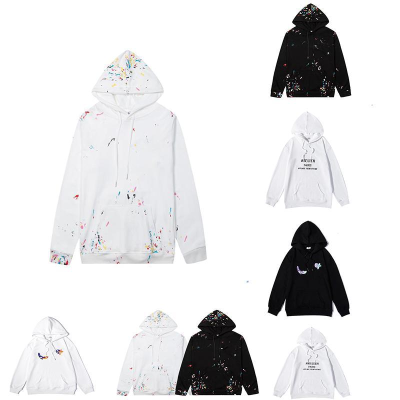 2021 브랜드 후드 티드 롱 슬리브 후드 스웨터 럭셔리 풀오버 클래식 편지 패턴 인쇄 패션 고품질 코튼 편안한 봄과 가을