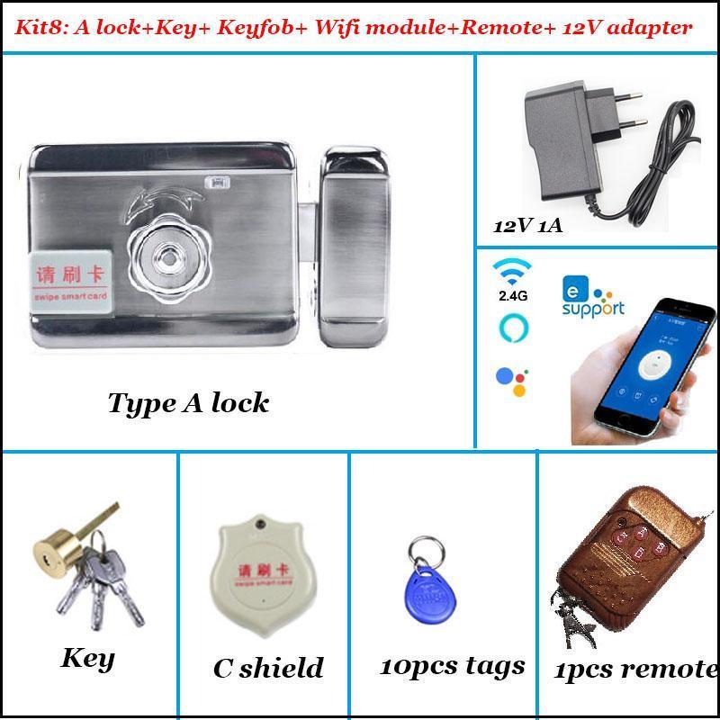 Fingerprint Access Control 12V Smart Electric Door Gate Lock Autolock For System Video Intercom EWelink Wifi Remote Unlock Alexa Google