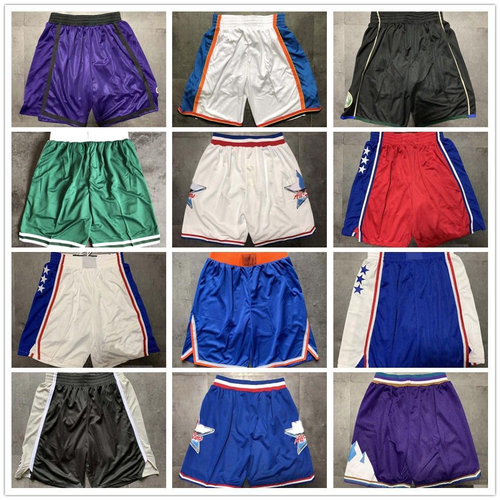 Top Quality ! Team Basketball Shorts Men Shorts de basket Sport Shorts College Pants White Blue Red Purple Yellow Black