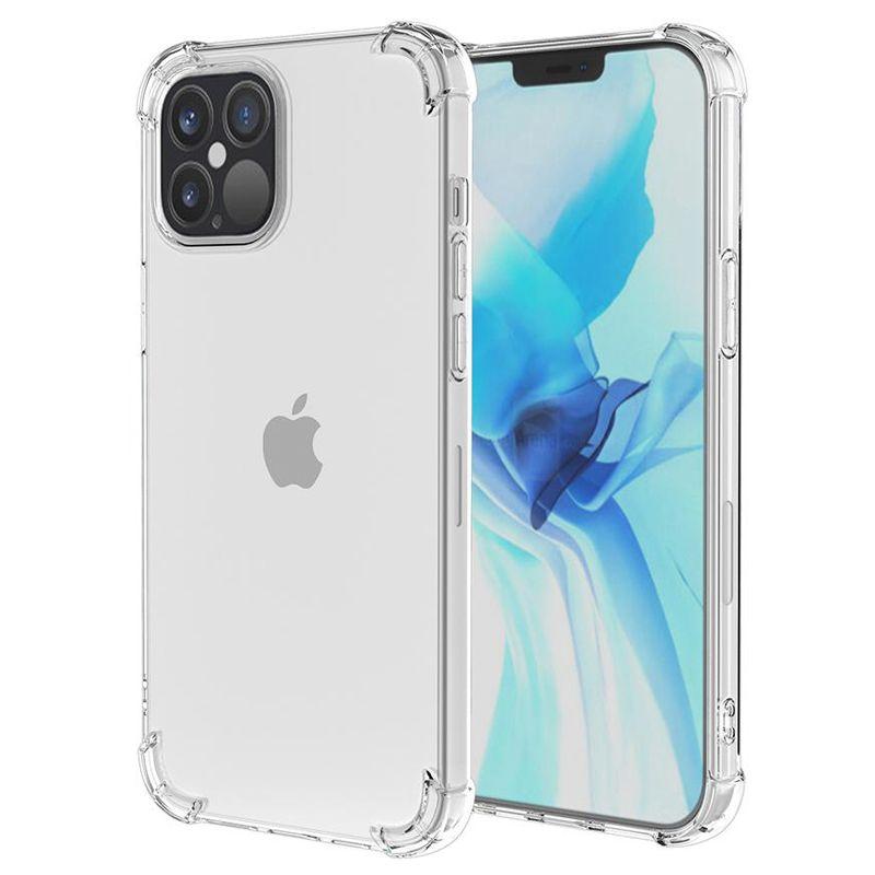 1.5mm högkvalitativa transparenta TPU Shockside Phone Fodral för iPhone 13 12 Mini 11 Pro max 6 7 8 Plus XR XS Samsung S21 S20 Not20 Ultra A12 A22 A32 A52 A72 Huawei