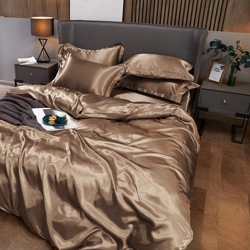 Bedding Sets Solid Color Set Luxury Bed Cover Comfortable Sheet For Home Multicolor Quilt Soft Pillowcase Twin Size