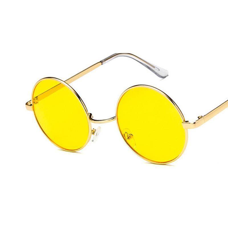 Runder Rahmen Trendy Womens Sonnenbrille Retro Brille Männer Mode Vintage Brillen