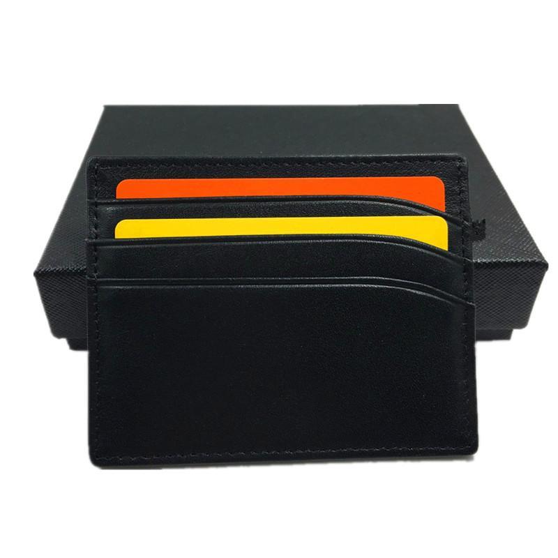 2021 Новая кожаная карточка чехол кошелек классический черный тонкий держатель кредитной карты кошелек новая мода бизнесмены тонкий кошелек монеты карманный пакет