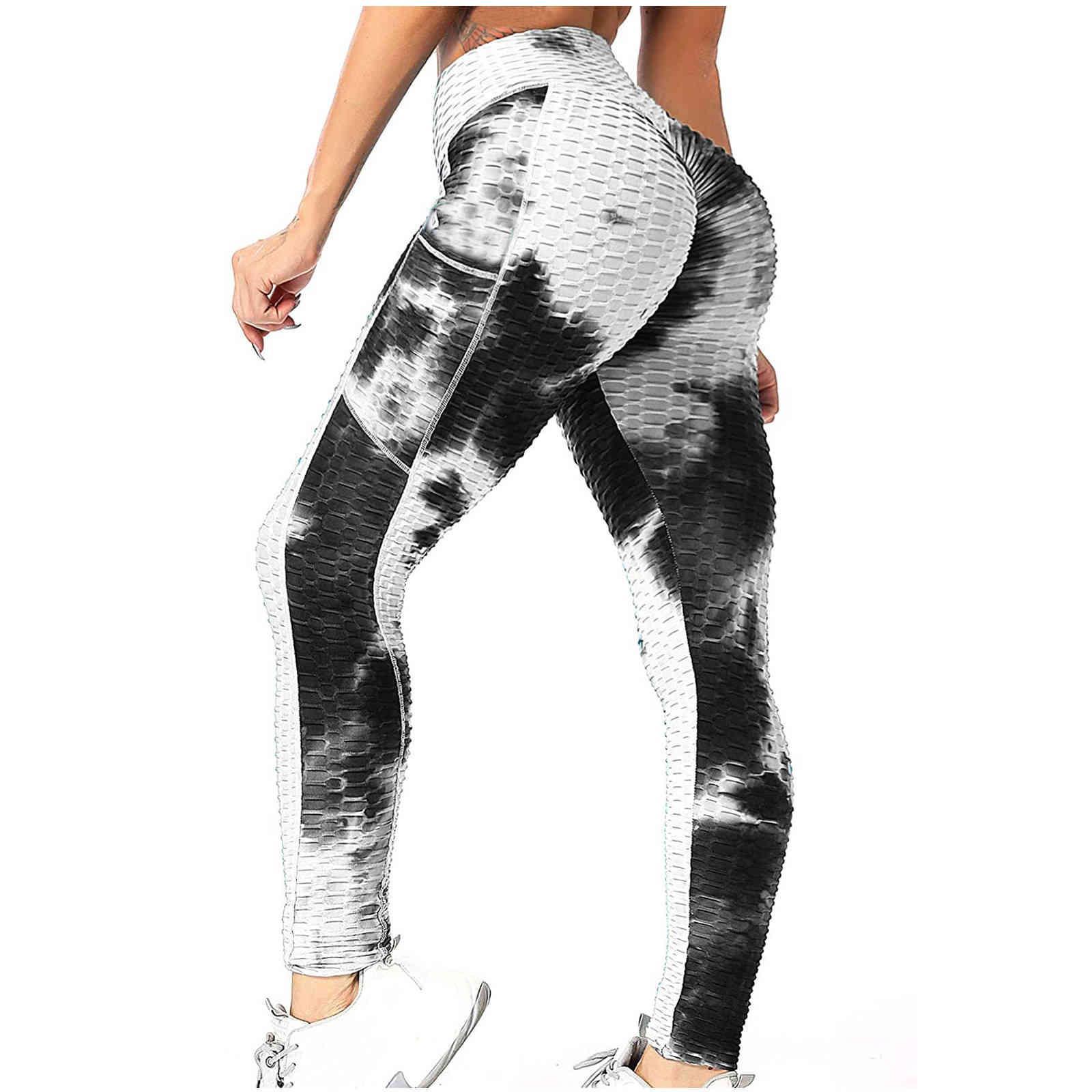 Pocket de colorant de femme de la taille haute taille sans soudure de jambe de sport de sport gym de sport gymnastique courante pantalon d'athlétisme yoga