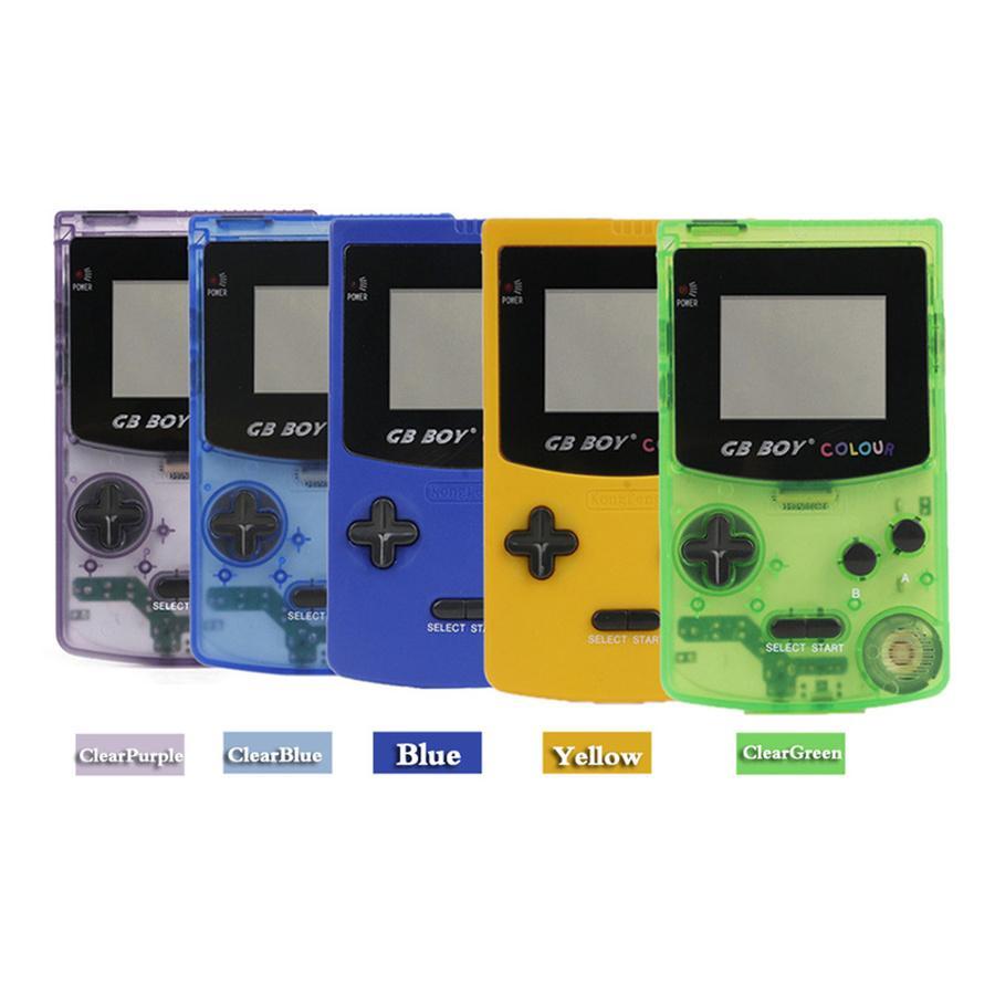 """Nuova macchina da gioco portatile GB Boy Classic Color Handheld Game Console 2.7 """"Gioco giocatore con retroilluminazione 66 Giochi integrati Casella al dettaglio"""