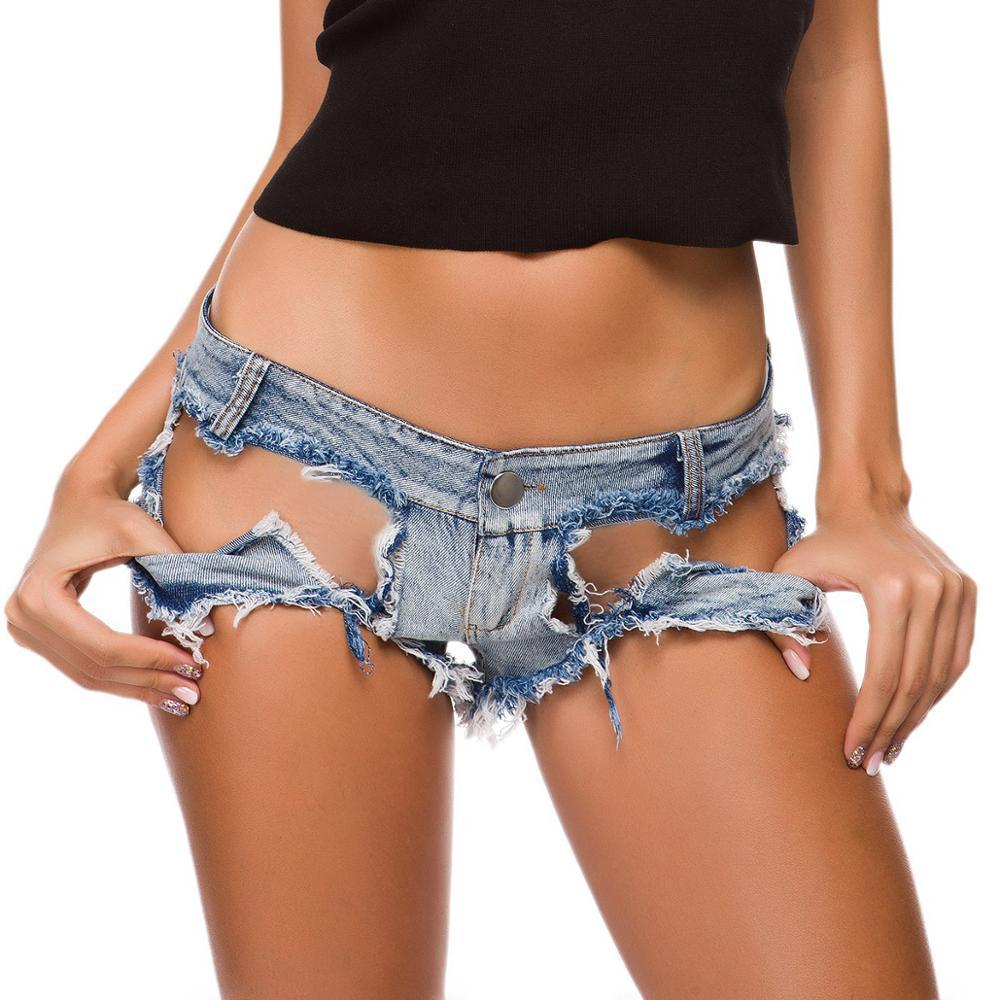 Femmes sexy bikini short jeans denim y2k trou gratté tassel indie all-match mini g-string beachwear shorts de butin plus taille x0320