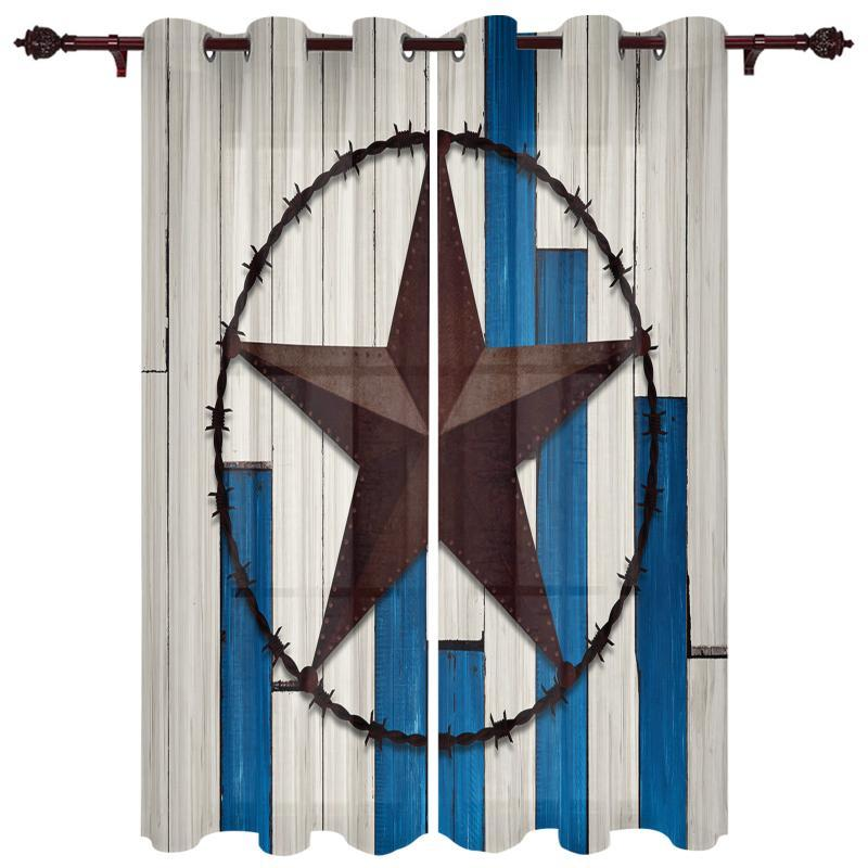 Curtain & Drapes Baby Bedroom Curtains Star Stripes Wood Grain Living Room Hanging Balcony Kitchen Study Modern Window Treatments