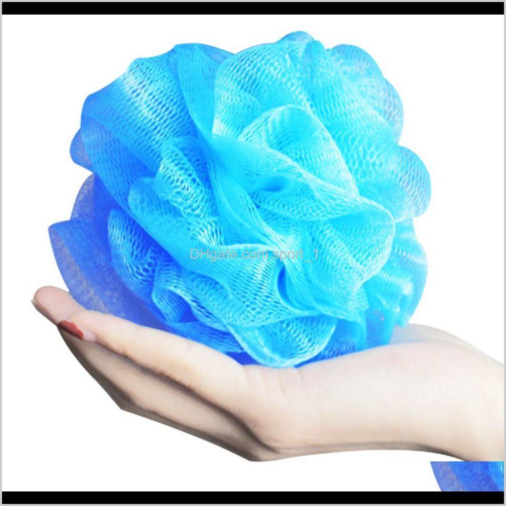 100 pcs multi cores 15g chuveiro de banho esponja pufa de nylon malha de nylon escova de chuveiro borda de lace borda de malha ldhg0 nm1tv
