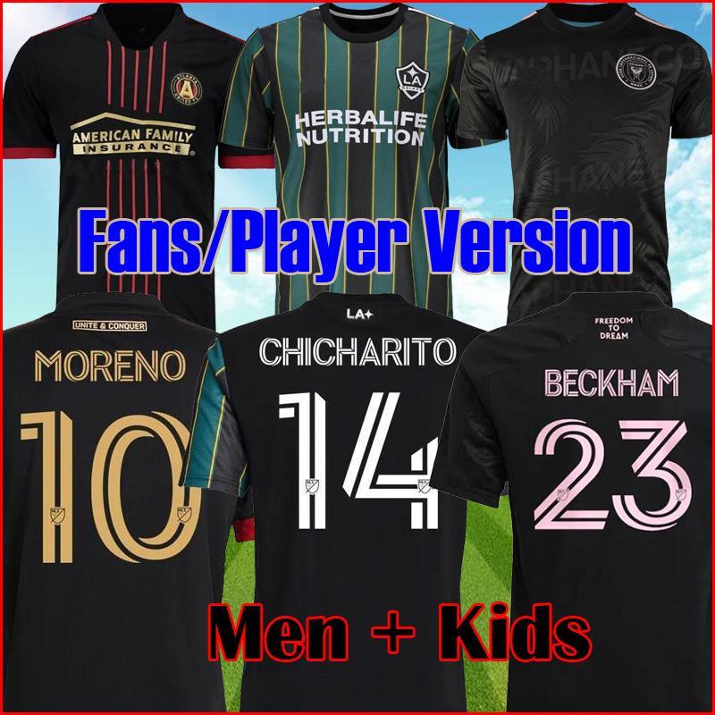 MLS 20 21 Atlanta United FC Soccer Jersey 2021 2022 La Galaxy Football Shirts Player Inter Miami CF Tops Matuidi Beckham قميص الرجال الاطفال عدة مجموعة الزي الرسمي