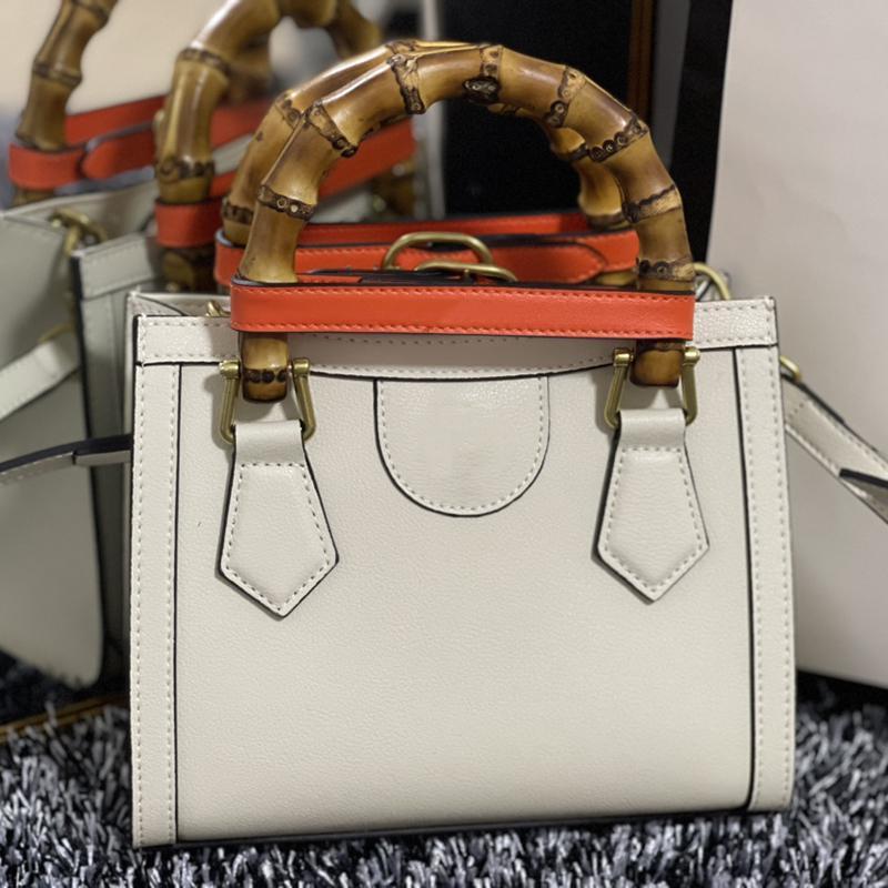 2021 diseñadores Diana Mini Bolsa de asas Bolsas de Hombreras Mujeres Genuine Cuero Alta Calidad Blanco Blanco Bolso de Lady con caja