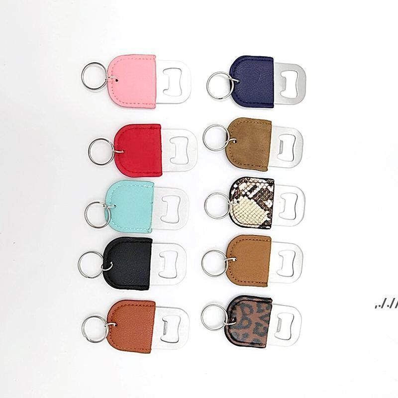 Creative Cuir Keychain Tarkscrew En acier inoxydable En acier inoxydable bouteille d'ouverture de la bouteille d'outil de cuisine porte-clés de la porte-clés DWB7715