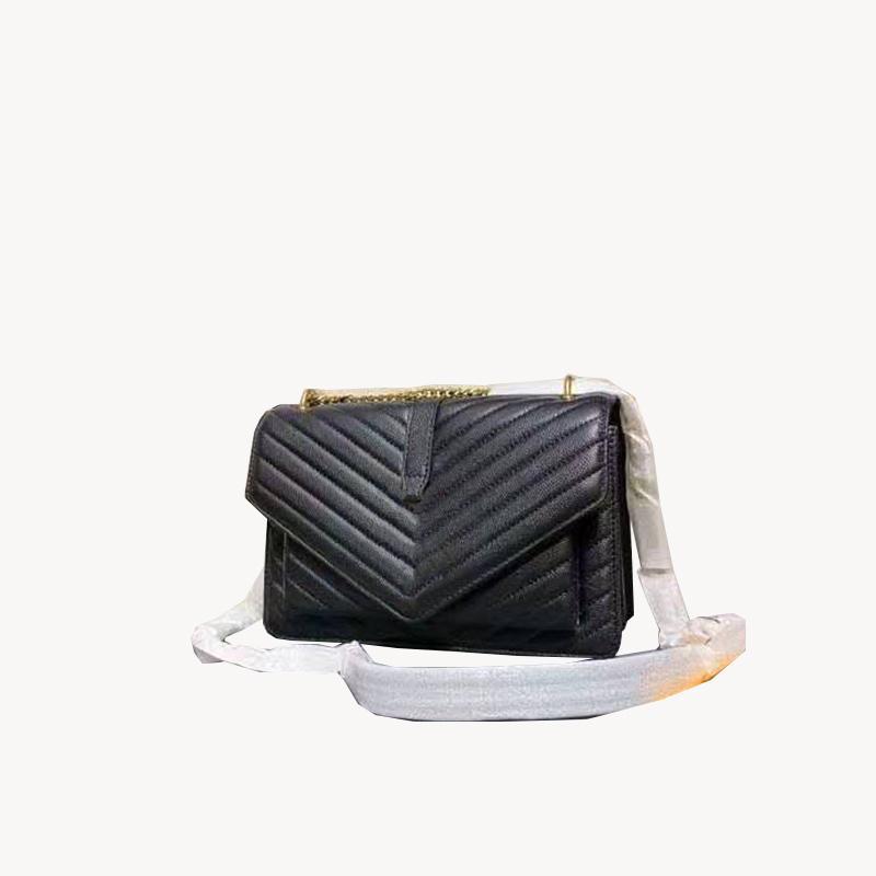 حقائب الكتف الأزياء الفاخرة مصمم الكلاسيكية الكبيرة سعة الوجه سلسلة الداخلية سستة حجرة سحاب شريطية حقيبة يد جلدية حقيبة جلدية 3A جودة عالية بو crossbody