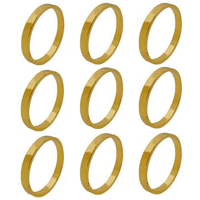 9 stücke Gold Farbe Serviette Ringe Schnallen Serviette Halter Für Hochzeits Party Restaurant El Heim Tischdekoration
