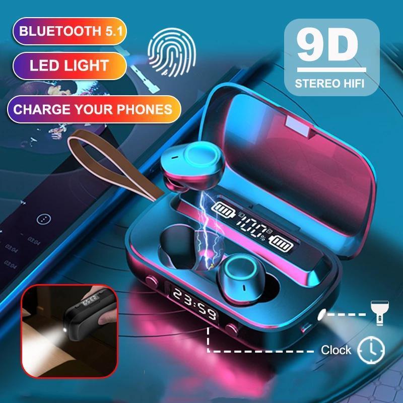 Беспроводные наушники TWS Bluetooth Наушники Sport Earbuds Музыкальная гарнитура с микрофоном для iPhone Xiaomi Samsung Huawei