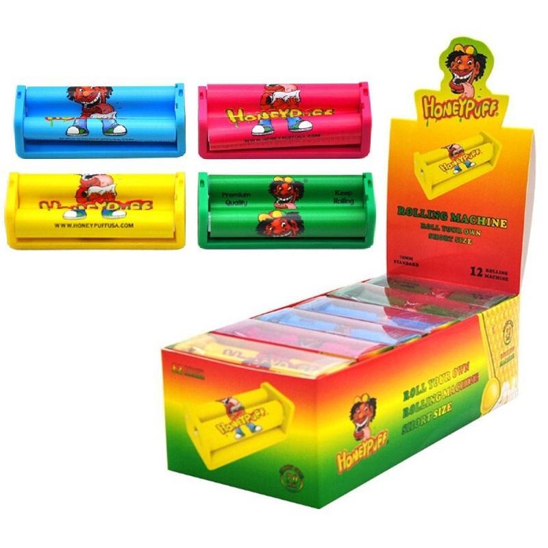 Подлинная хонтильная машина Honeypuff Plastic E-сигарета Vape Roller 70 мм 110 мм 12 шт. Дисплей DHL UPS Курение E-CIG аксессуары