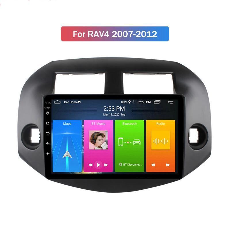 Joueur DVD de voiture de radio Auto Auto Auto Auto de 9 pouces de 10 pouces avec cadre de support WiFi GPS pour TOYOTA RAV4 2007-2012