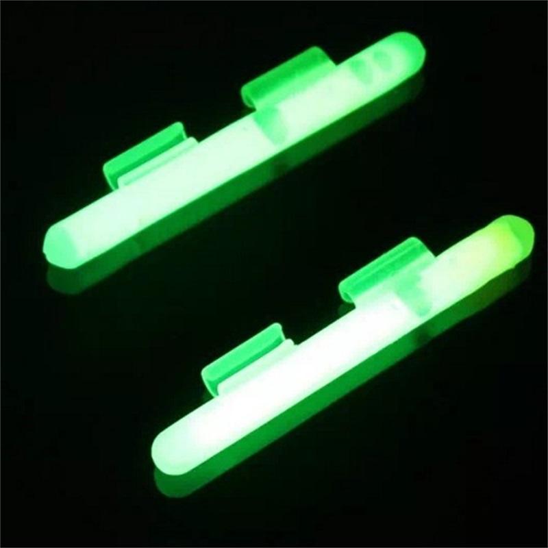 Nachtfischen Glühen Leuchtstab mit Clip für Köder Gießstange Glow Clip Stick One 699 S2