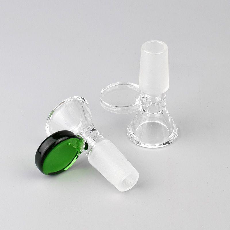 Accesorios de humo de cristal coloridos 14mm 18mm Adaptador de tazón de tazón de macho para Hookah SHISHA Agua Tubería de agua