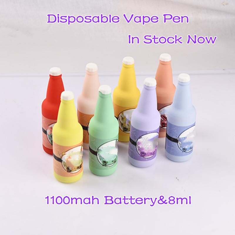 Más tarde xo Cigarros electrónicos desechables 3000 Puffs Vapes Vapes Cigarrillos con RGB LED 8ML ELIQUID 1100mAH Una vez Use la pluma Vape Vaping