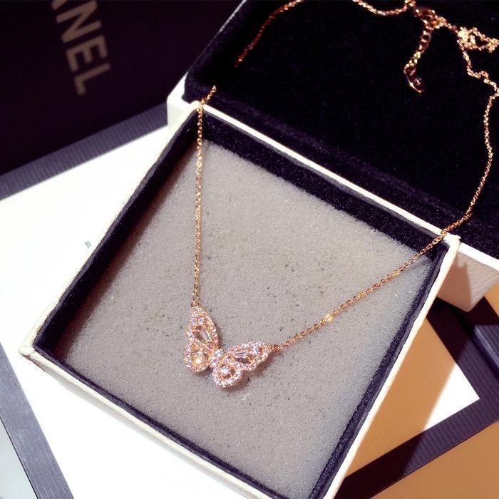 النساء فراشة قلادة قلادة الأزياء سحر مجوهرات هدية للسيدات بنات القلائد