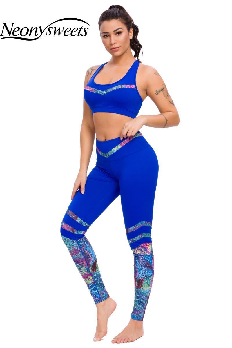 Mujeres Set de yoga 2piece Leggings + Sports Bras Woman Gym Clothing Fitness Sportswear Enterrout Perspieta Sports Trajes Traje