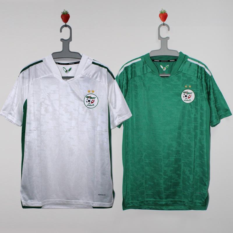 알제리 축구 유니폼 2021 홈 멀리 Mahrez Bounedjah Feghouli Bennacer Atal 21 22 알제리 Maillot 드 Foot