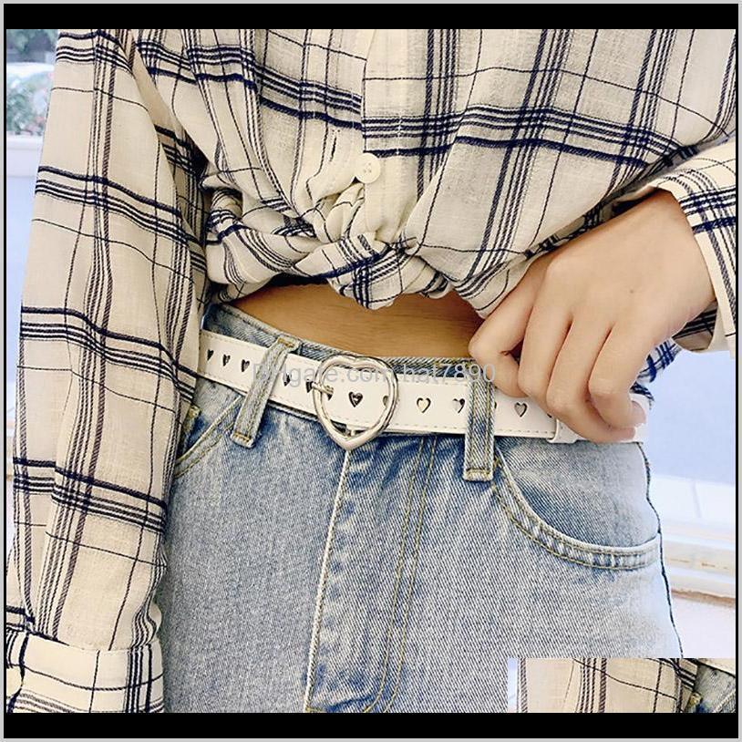شهادات العزفيين أحزمة القلب الأزياء مشبك بو الجلود بنات الخصر حزام للجينز بنطلون عارضة الأسود الإناث حزام قطرة