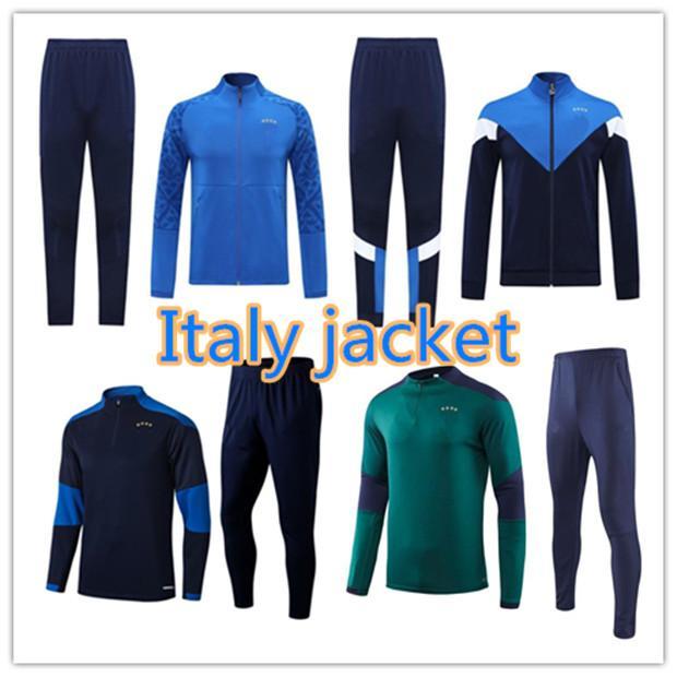 21 22 ImmoBile Verratti National Team Soccer Training Suit 2021/22 Jorginho Bonucci Barella manga curta polo camisa de futebol jaqueta jogging tracksuit chandal
