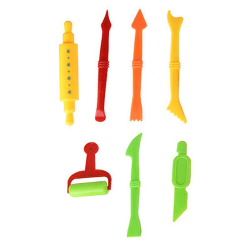 Molde de plasticina modelagem kit de argila brinquedo lodo para criança criativa diy plástica playdough set ferramentas crianças cortadores de miúdos moldes jogar brinquedo de massa 1185 y2