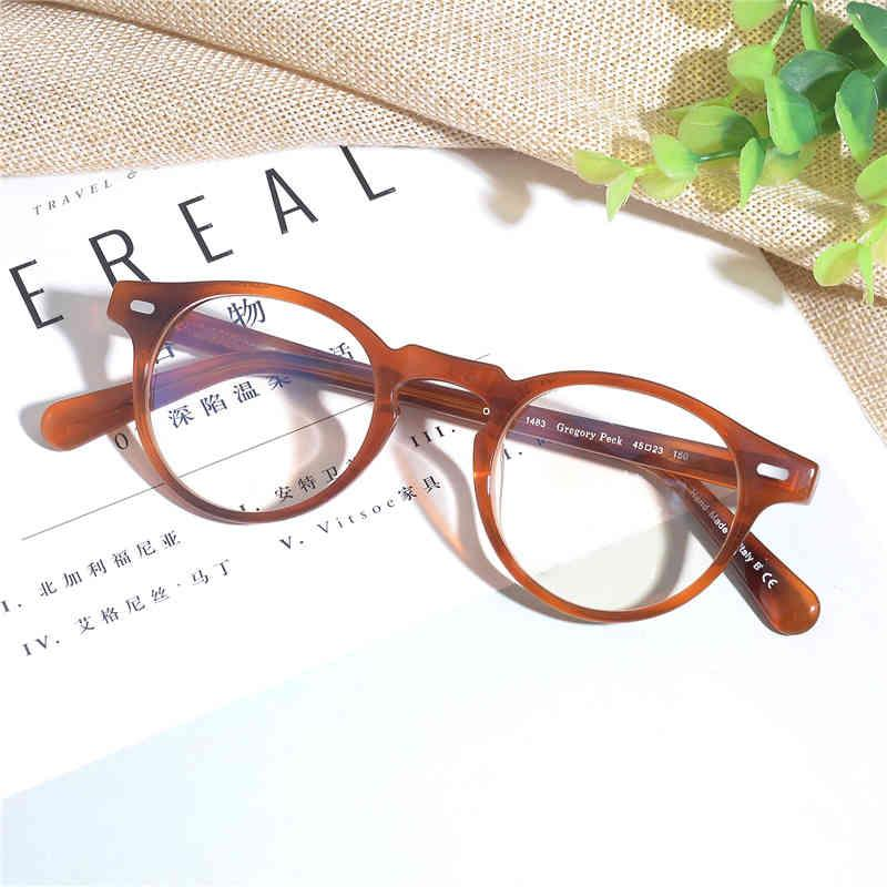 Vintage optische Gläser Rahmen ov5186 Brillen Gregory PECK OV 5186 Lesebrille Frauen und Männer Spetacle Eyewear Frames 210323