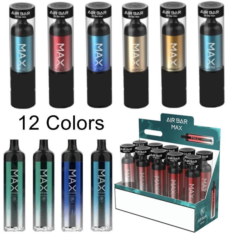 에어 바 최대 담배 일회용 vape 펜 포드 디바이스 에어 바 배터리 2000 퍼프 퍼프 바 일회용 vapes 펜 6.5ml 포드 로컬
