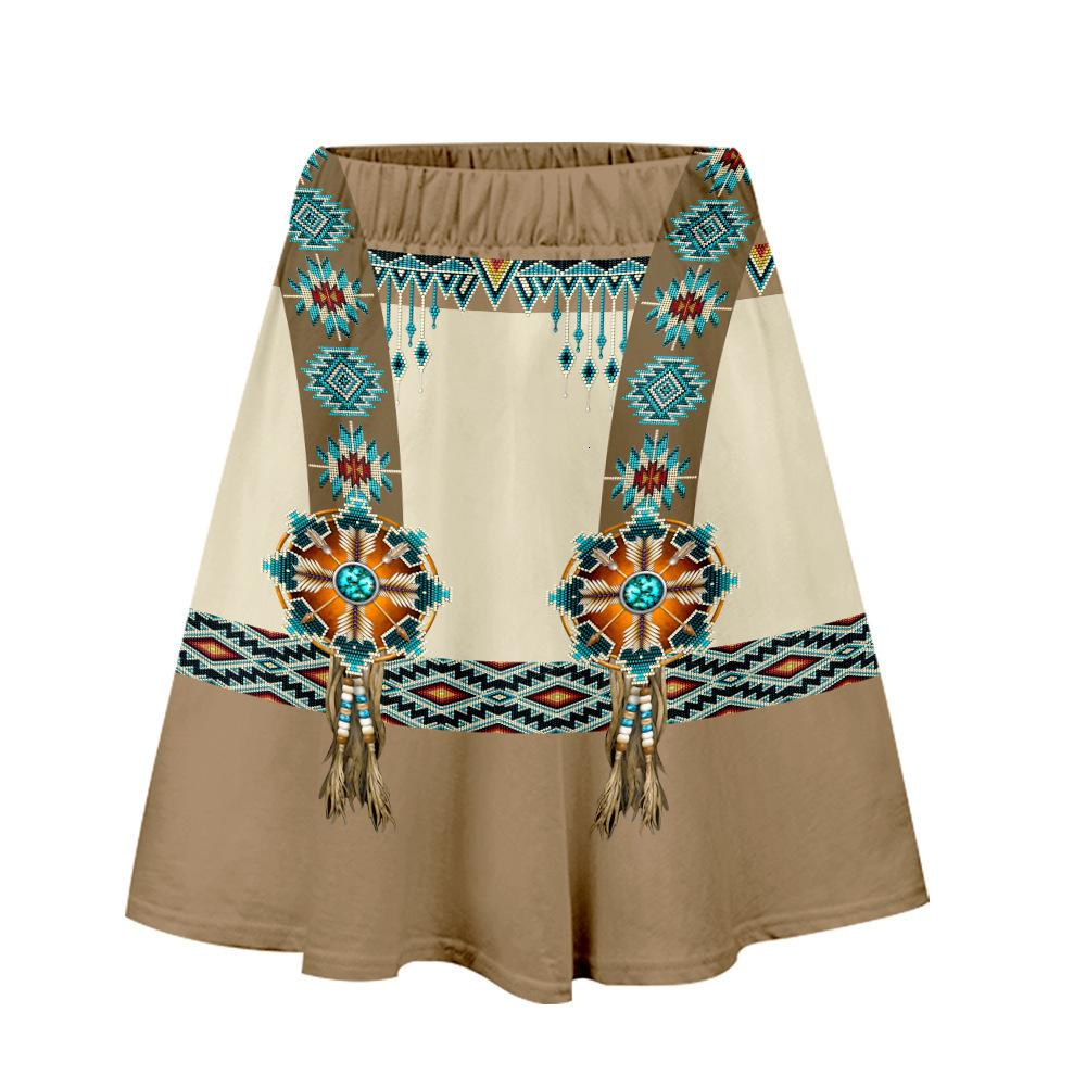 Indian Clothing 3d Digital Color Printing Women's Pleated Skirt
