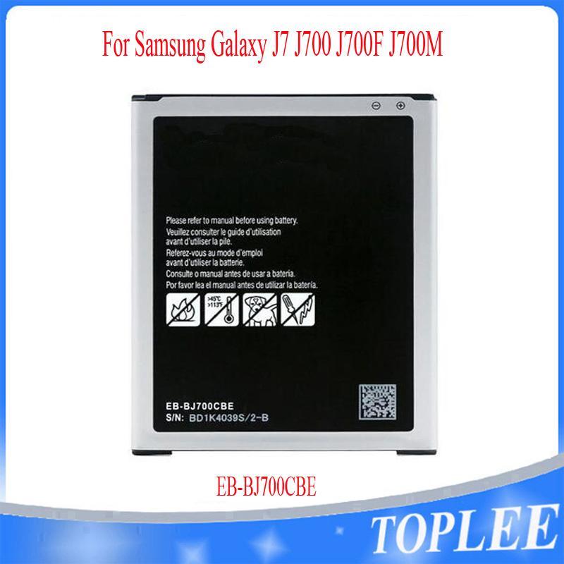 Toptan Fiyat !! Yüksek Kalite EB-BJ700BBC EB-BJ700CBE Batarya Samsung Galaxy J7 J700F J700M J700H J700T J700P J700 Piller