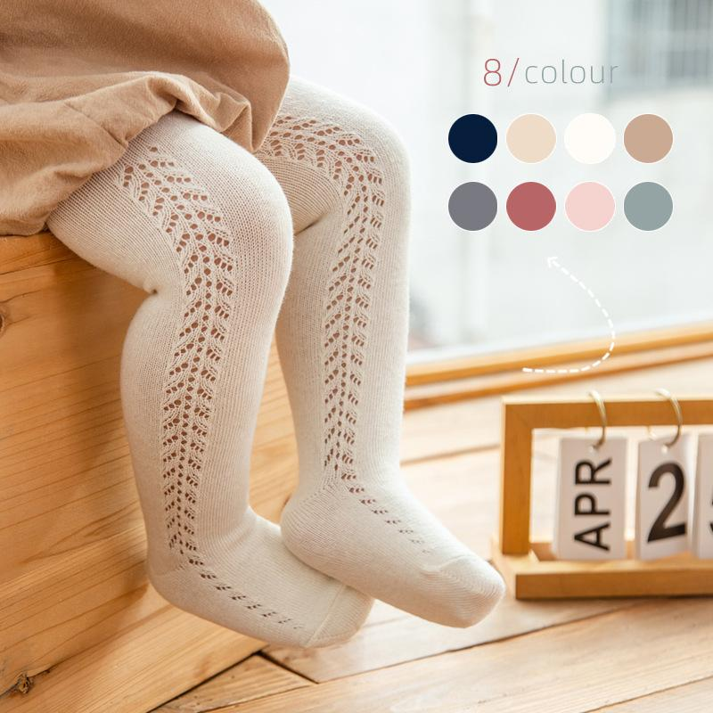 Baby Tights For Girls Spanish Hollow Toddler Pantyhose Stockings Autumn Bottom Girl Clothing