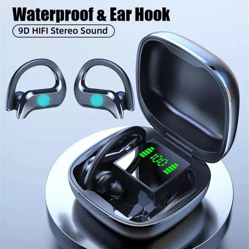 TWS Bluetooth 5.0 Беспроводные сенсорные наушники с цифровым дисплеем Коробка зарядки Стерео наушники Водонепроницаемая шумоподавление головы