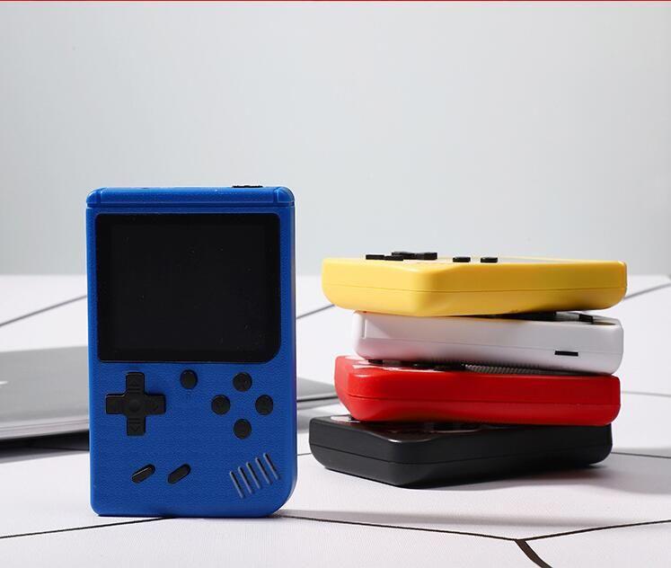휴대용 핸드 헬드 비디오 게임 콘솔 레트로 8 비트 미니 플레이어 400 게임 3 AV 포켓 게임 보이 컬러 LCD