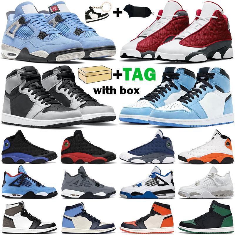 أحذية كرة السلة للرجال والنساء الجديدة 1s عالية OG Jumpman 1 air jordan retro جامعة زرقاء متوسطة الضوء دخان رمادي شيكاغو داكن موكا تويست سبج أحذية رياضية للرجال