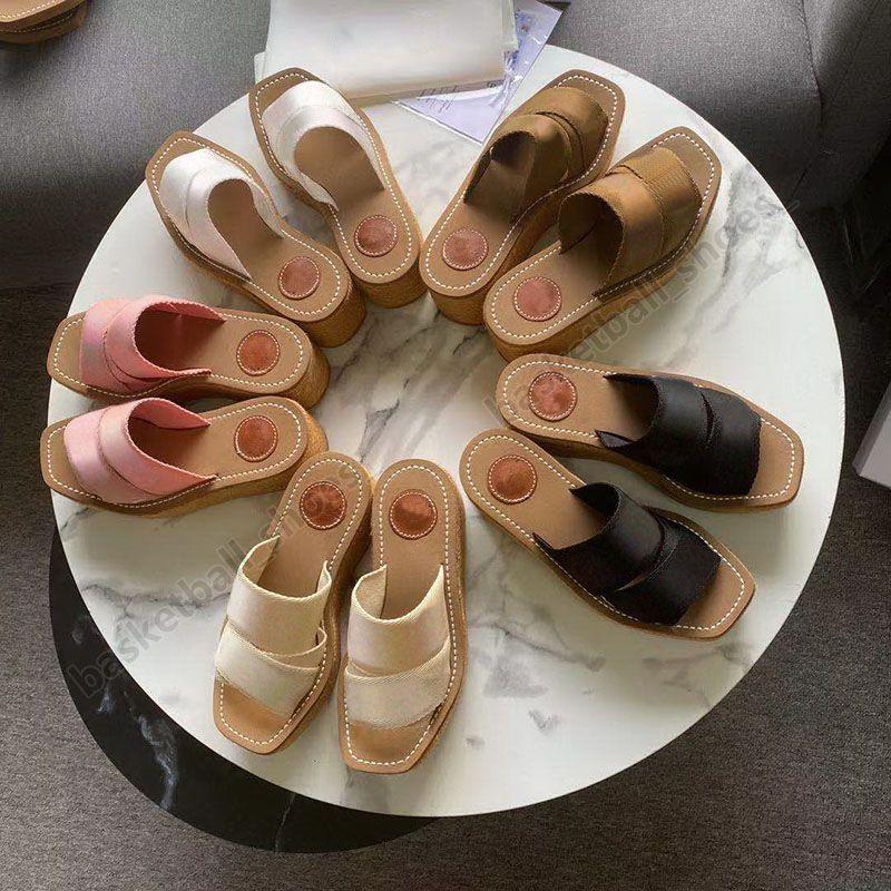 Mode Designer Frauen Platform Sandalen Stickerei Müßiggänger Fischer Sommer Wohnungen Schuhe Damen Slipper Größe 35-42