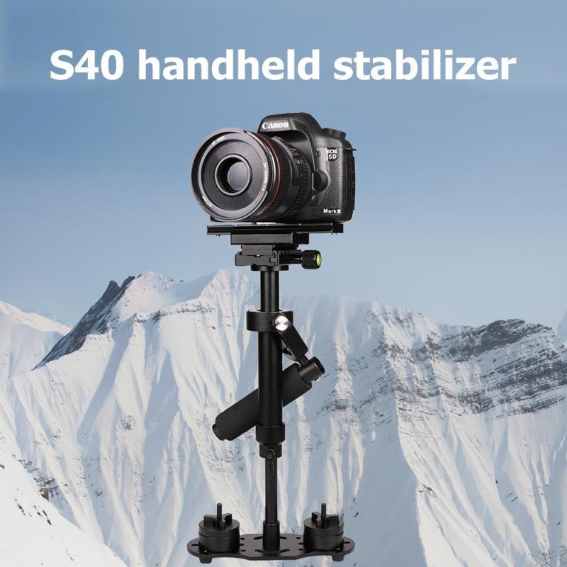Montagem de estabilizador de vídeo de liga de alumínio portátil para o telefone dslr dv câmera tripé cabeças