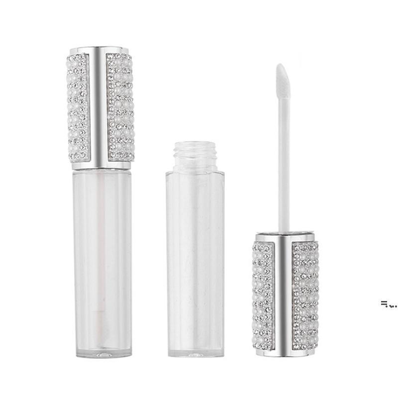 NEW5ML diamant vide rond lipgloss emballage bouteille tube tube clair en plastique gloss bouteilles EWA6083