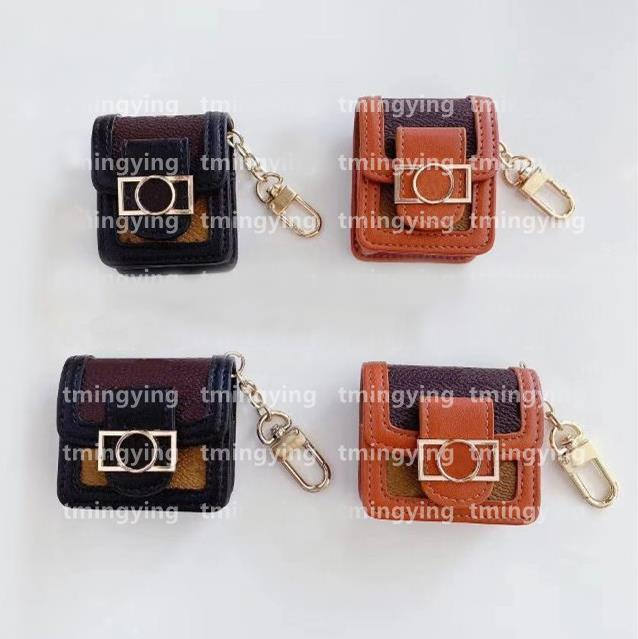 Luxurys مصممون سلسلة قطاع الشريط الحالات airpods for 1 2 airpod الموالية حالة طباعة سماعة حزمة ربط قفل المفاتيح مكافحة فقدت سماعة شل